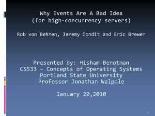 Why Events Are A Bad Idea (for high-concurrency servers)