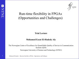 Run-time flexibility in FPGAs (Opportunities and Challenges)