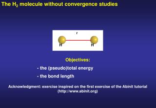 The H 2  molecule without convergence studies