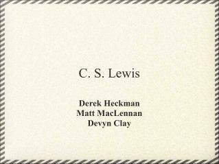 Clive staples lewis doctoral dissertation