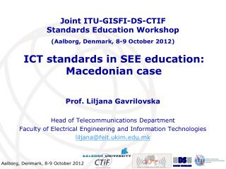 ICT standards in SEE education: Macedonian case
