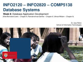 INFO2120 – INFO2820 – COMP5138 Database Systems