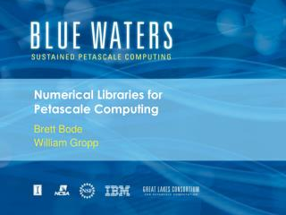 Numerical Libraries for  Petascale Computing