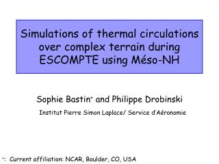 Simulations of thermal circulations over complex terrain during ESCOMPTE using Méso-NH
