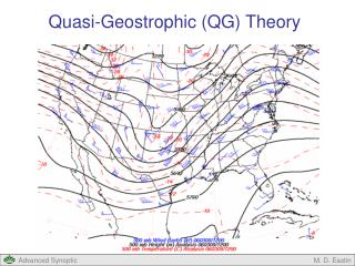 Quasi-Geostrophic (QG) Theory