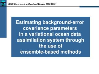Estimating background-error  covariance parameters  in a variational ocean data