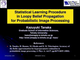Statistical Learning Procedure in Loopy Belief Propagation for Probabilistic Image Processing