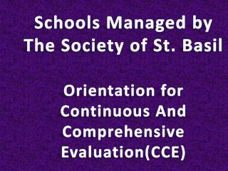 Schools Managed by The Society of St. Basil