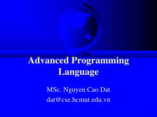 Advanced Programming Language