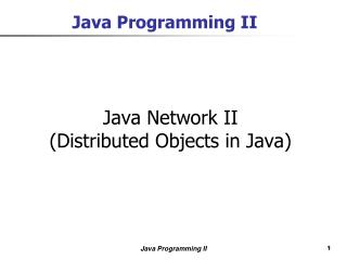 Java Programming II