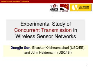 Experimental Study of  Concurrent Transmission  in Wireless Sensor Networks