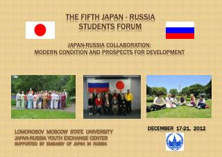The  fIFTH  Japan - Russia STUDENTS forum