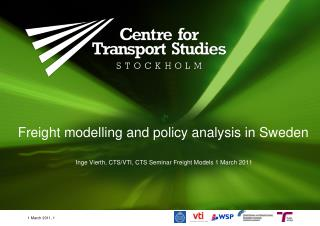 Freight modelling and policy analysis in Sweden