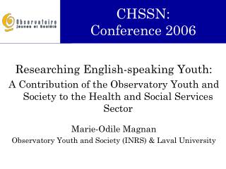 CHSSN: Conference 2006