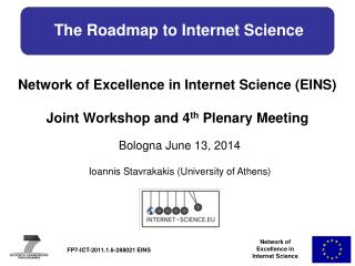 The Roadmap to Internet Science