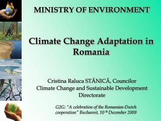 Climate Change Adaptation in Romania