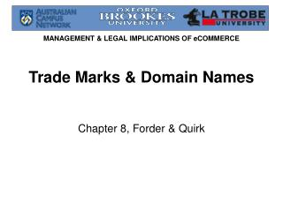 Trade Marks & Domain Names