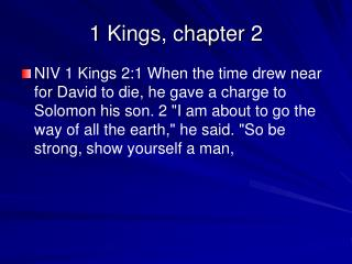 1 Kings, chapter 2