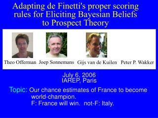 A dapting de Finetti's proper scoring rules for Eliciting Bayesian Beliefs to Prospect Theory