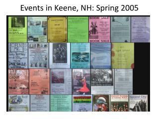 Events in Keene, NH: Spring 2005