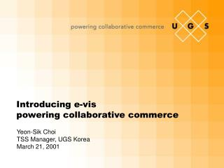 Introducing e-vis powering collaborative commerce