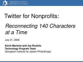 Twitter for Nonprofits: