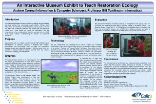 An Interactive Museum Exhibit to Teach Restoration Ecology