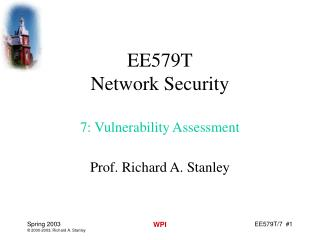 EE579T Network Security 7: Vulnerability Assessment