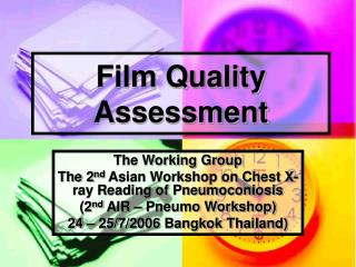 Film Quality Assessment