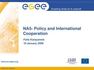 NA5- Policy and International Cooperation