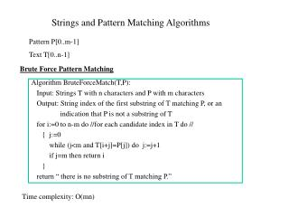 Strings and Pattern Matching Algorithms