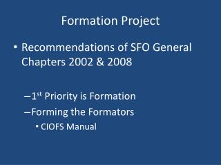 Formation Project