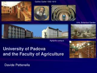 University of Padova and the Faculty of Agriculture