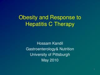 Obesity and Response to  Hepatitis C Therapy