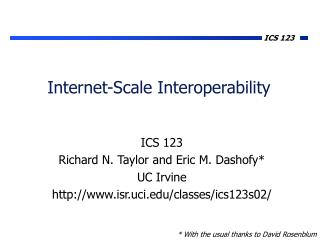 Internet-Scale Interoperability