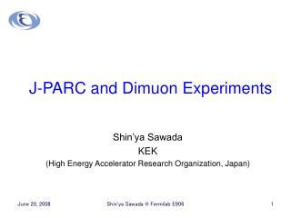 J-PARC and Dimuon Experiments