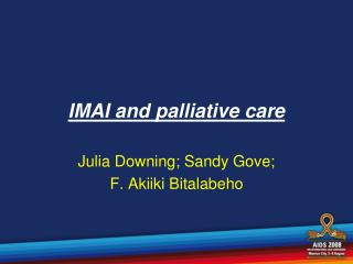 IMAI and palliative care
