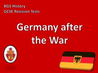 Germany after the War