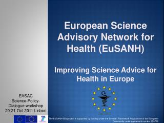 EASAC  Science-Policy-Dialogue workshop  20-21 Oct 2011 Lisbon