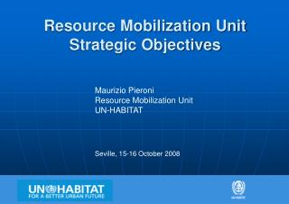 Resource Mobilization Unit Strategic Objectives
