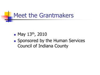 Meet the Grantmakers