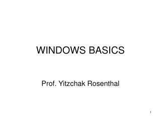 WINDOWS BASICS