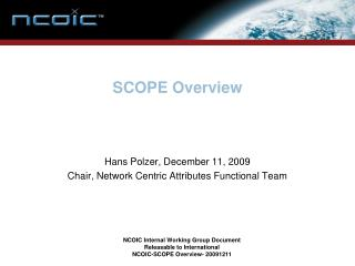 SCOPE Overview