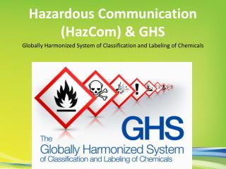 Hazardous Communication (HazCom) & GHS