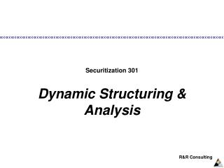Securitization 301