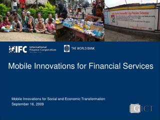 Mobile Innovations for Financial Services