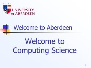 Welcome to Computing Science