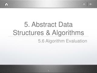 5. Abstract Data Structures & Algorithms