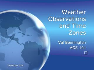 Weather Observations and Time Zones