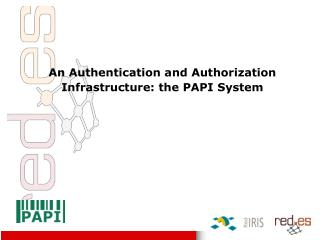 An Authentication and Authorization Infrastructure: the PAPI System